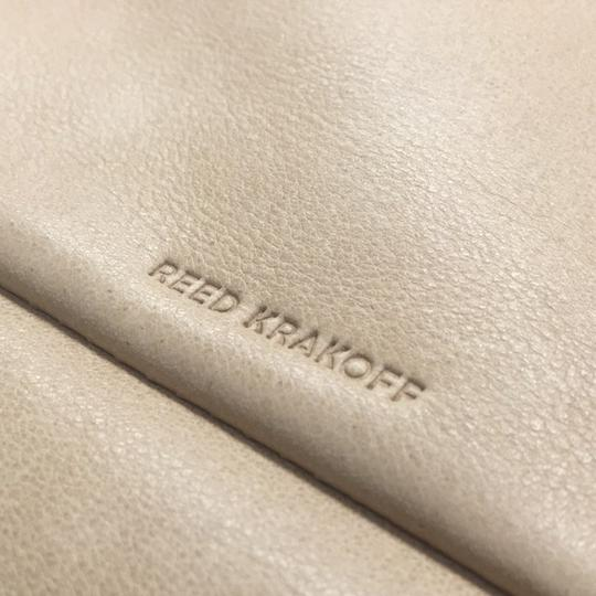 Reed Krakoff Xlkit Leather Leather Hardware Chic Glove Tan Clutch
