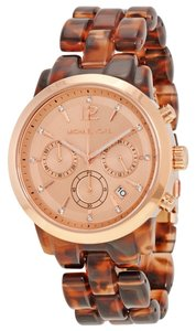 Michael Kors Michael Kors Rose Gold Tortoise Shell Ladies Designer Watch