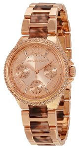 Michael Kors Michael Kors Rose Gold and Tortoise Shell Crystal Pave Ladies Designer Watch