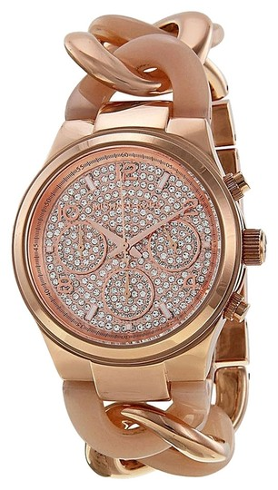 Michael Kors Michael Kors Crystal pave Rose Gold Blush Acetate Ladies Designer Watch