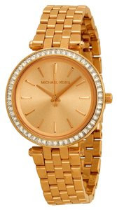 Michael Kors Michael Kors Rose Gold Crystal Pave Bezel Ladies Designer Watch