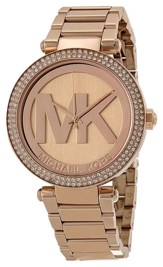 Michael Kors Michael Kors Rose Gold Logo Dial Crystal Ladies Designer Watch