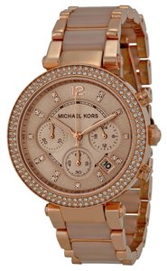 Michael Kors Michael Kors Rose Gold Blush Acetate Crystal Pave Ladies Designer Watch