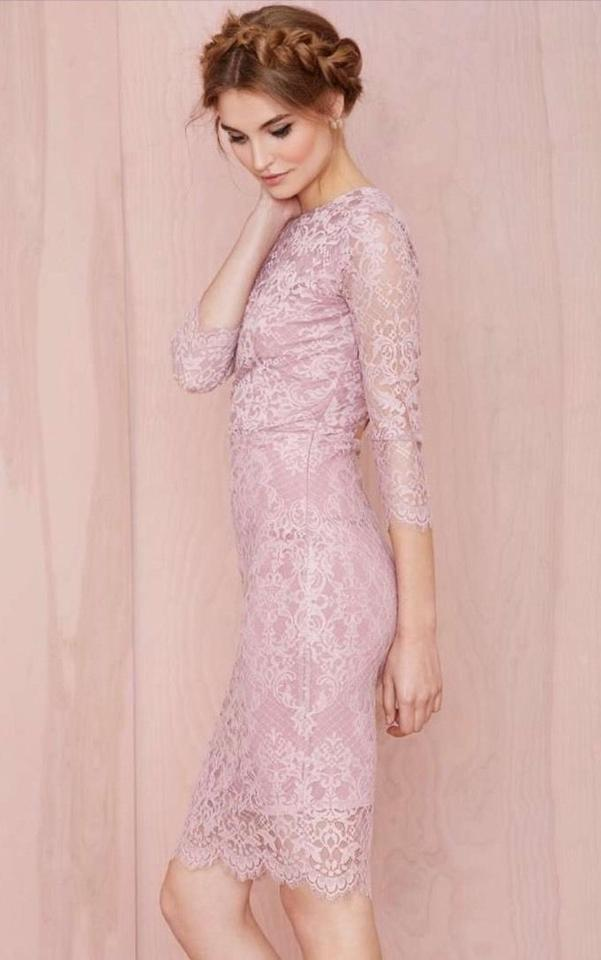 For Love & Lemons Pink And Potpourri Lace Knee Length Cocktail Dress ...
