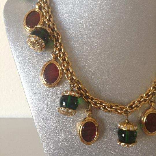 Chanel CHANEL RARE VINTAGE GRIPOIX & CRYSTAL CHOKER NECKLACE