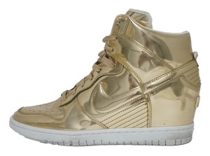 Nike Dunk Sky Hi Liquid Wedge Sneakers Limited Edition Collectable Gold Athletic
