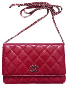 Chanel Woc Wallet Chain Metallic Patent Cross Body Bag