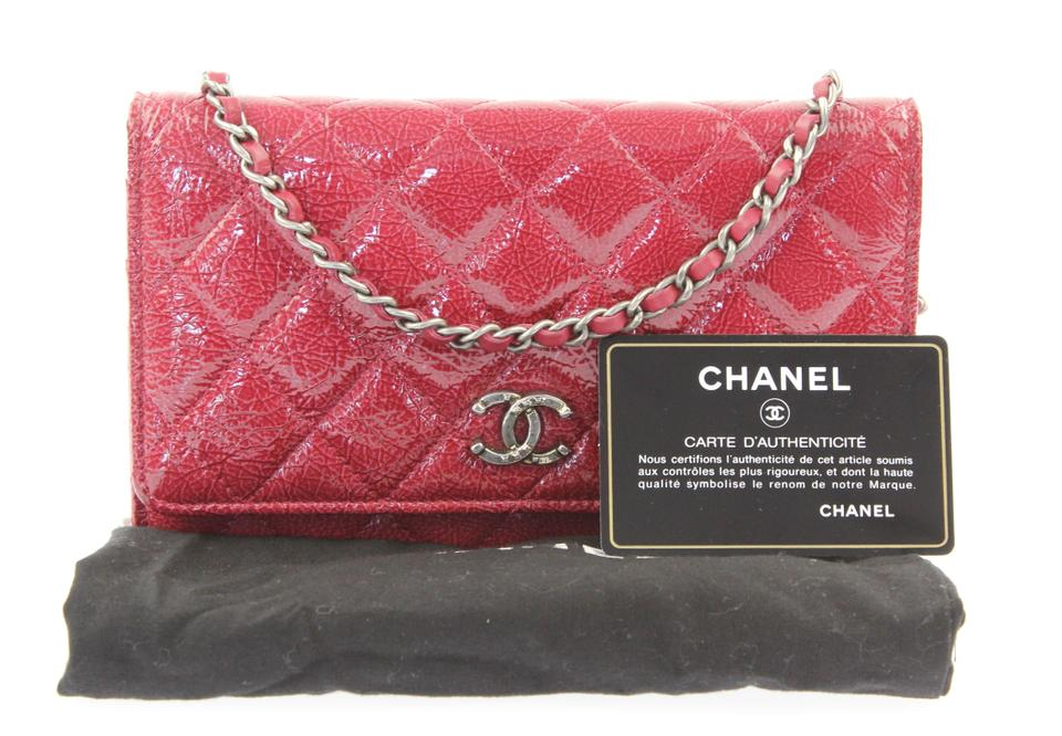 05ef9576d727 Chanel Woc Wallet Chain Metallic Patent Cross Body Bag Image 9. 12345678910