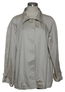 Norma Kamali Stretch Cotton Swing Beige Jacket