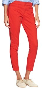 Gap Khakis Cargo Skimmer Sporty Skinny Pants Poster Red