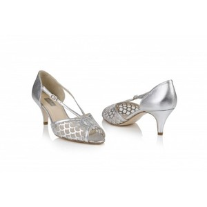 BHLDN Silver Roxie Rachel Simpson; Eu 40; Pumps Size US 9 Regular (M, B)