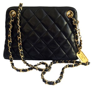 Chanel Quilted Lambskin Gold Caviar Vintage Shoulder Bag
