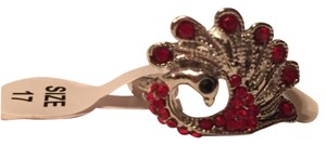 Other ' S80 silver Red & garnet cz ring size7