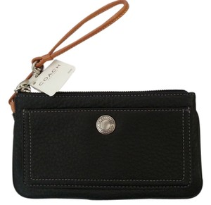 Coach New Soft Pebble Leather Coach Wristlet