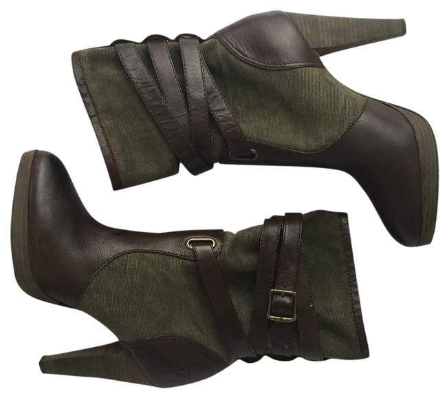Item - Brown and Green Harlow Mid Boots/Booties Size US 9.5 Regular (M, B)