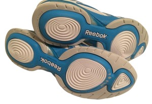 Reebok Sneakers Free Shipping! 8/5 Running White & Sky Blue Athletic
