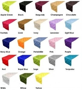 Pintuck Table Runners Assorted Colors