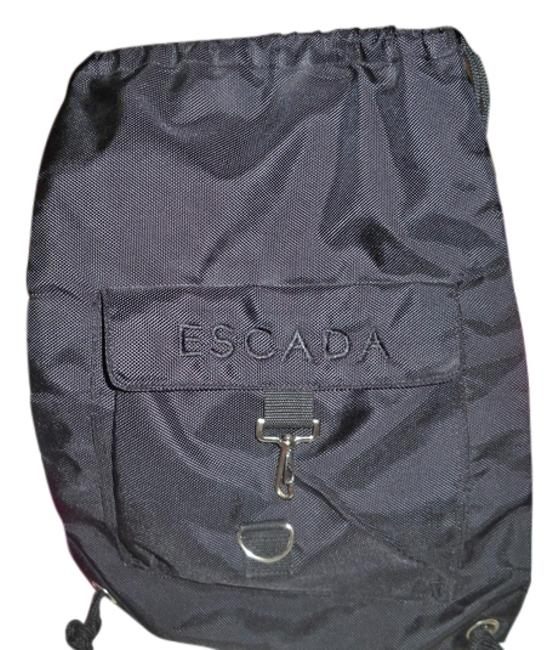 Item - Black with Silver Hardware Nylon Backpack