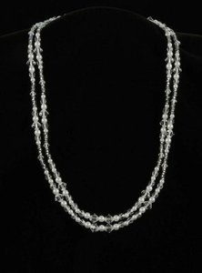 Toni Federici Toni Federici 2 Strand Silver And Pearl Necklace