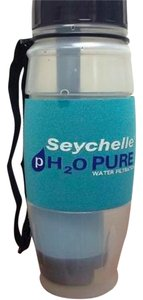 Seychelles Seychelles Multi-Color Water Filtration Gym Workout Water Bottle Micro Filter Cup H20 Multi-Sport