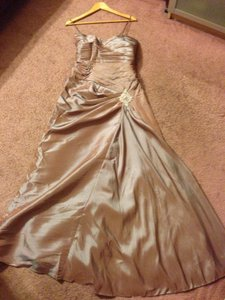 Jordan Fashions Metallic Brown Dress
