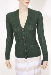 Ralph Lauren Blue Label Womens Linen Alpaca Cardigan Sweater