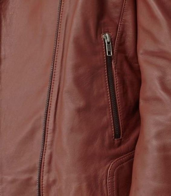 Reiss Leather Leather Leather Brown Jacket