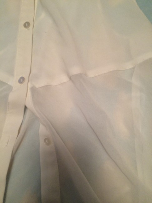 Divided by H&M Button-down Sheer Backless Breathable Top White