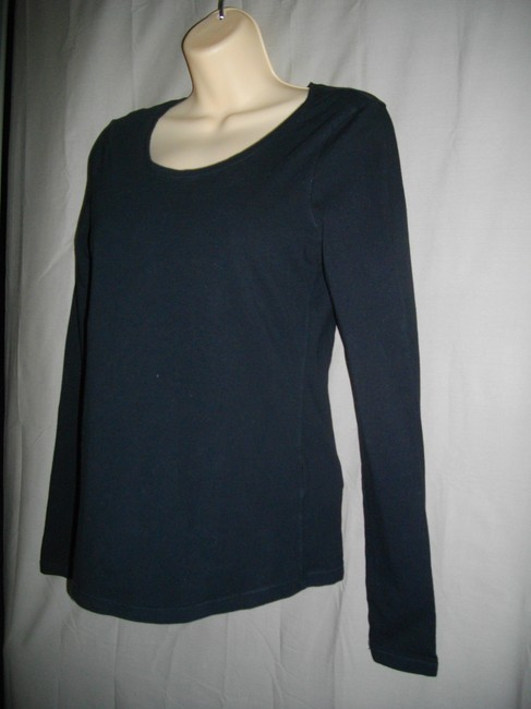 H&M Long Sleeve Pullover Small T Shirt Black