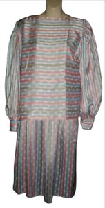 Evan Picone Evan Picone 2 Piece Multicolor Stripes Small S 6 Skirt Set