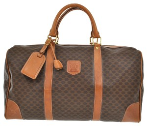 Céline Pvc Leather Travel Hand Brown Travel Bag
