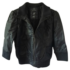 Polo Club Blac Leather Jacket