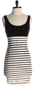 Audrey 3+1 short dress Black and White Stretchy Tiered Ruffle on Tradesy