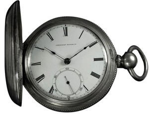 Waltham 1864 American Watch Co. / Waltham Appleton Tracy Civil War Pocket Watch, 18 size - Coin Silver