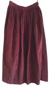 Ralph Lauren Maxi Skirt Burgundy