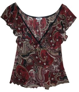 Dress Barn Top Black, Maroon, Rust, Beige