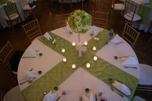 Green Name Your Price Reception Decoration