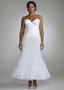 White Fit and Flare Bridal Slip Style 9550w - Size 16w
