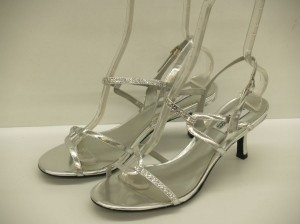 Dyeables Alyssa Silver Size: 9 Wedding Shoes