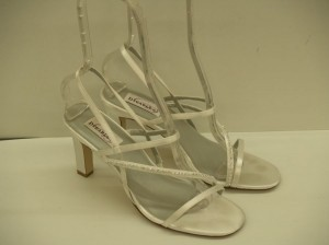 Dyeables Aurora Size: 9 Strappy Sandals Destination Cruise Wear Satin Wedding Shoes