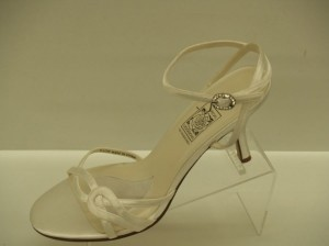 Special Occasions By Saugus Shoe 4230 White Size: 9.5 White Satin White Sandal Wedding Shoes