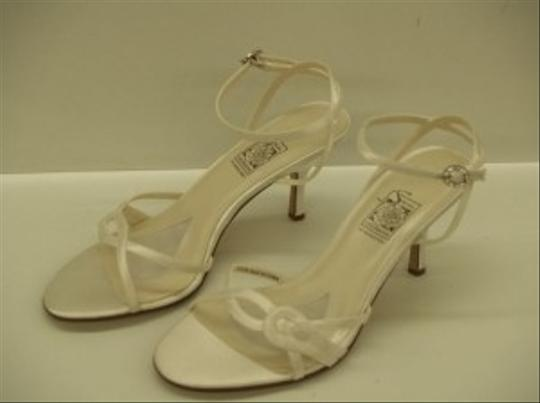 Special Occasions by Saugus Shoe White 4230 Satin Sandal Size US 9.5