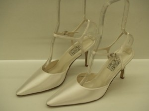 Special Occasions By Saugus Shoe 36030 White Size: 9.5 Pointy Toe Closed Toe Ankle Strap Classic Stiletto Wedding Shoes