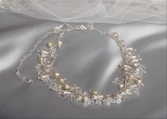 Ivory/Silver Erica Koesler Pearl Crystal Amazing Necklace Nw