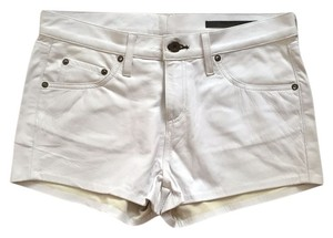 Leather Rag & Bone Dress Shorts White Leather