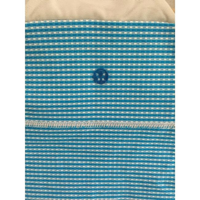 Lululemon Lululemon White And Blue Checkered Racer Back