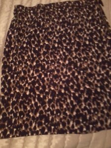 Ann Taylor Size 10 Animal Print Mini Skirt Leopard