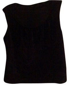 New York & Company Black Burnout Black Sleeveless Top Black Velvet