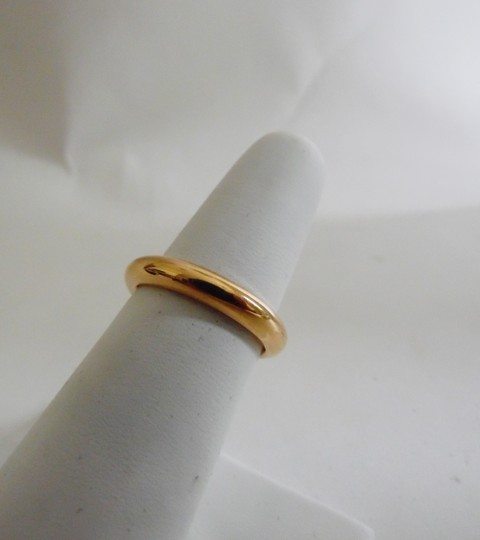 Other Stainless Steel Rosetone Band Ring Size 8 Image 1