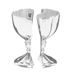Silver Heart To Heart Silverplated Goblet Toasting Goblet